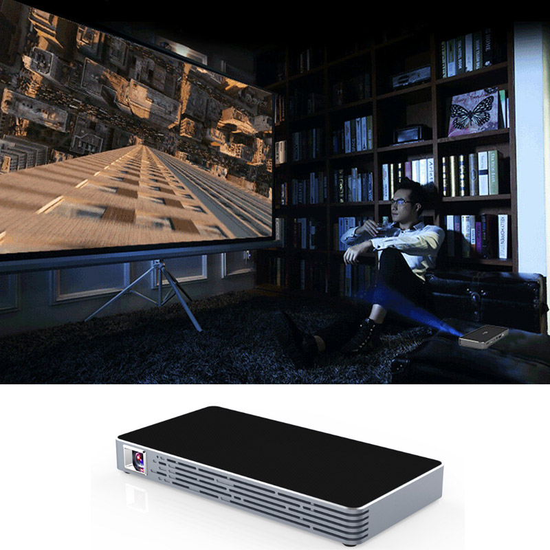 Mini projecteur portatif de téléphone intelligent DLP HD de ménage de projecteur pour le cinéma maison @ JH