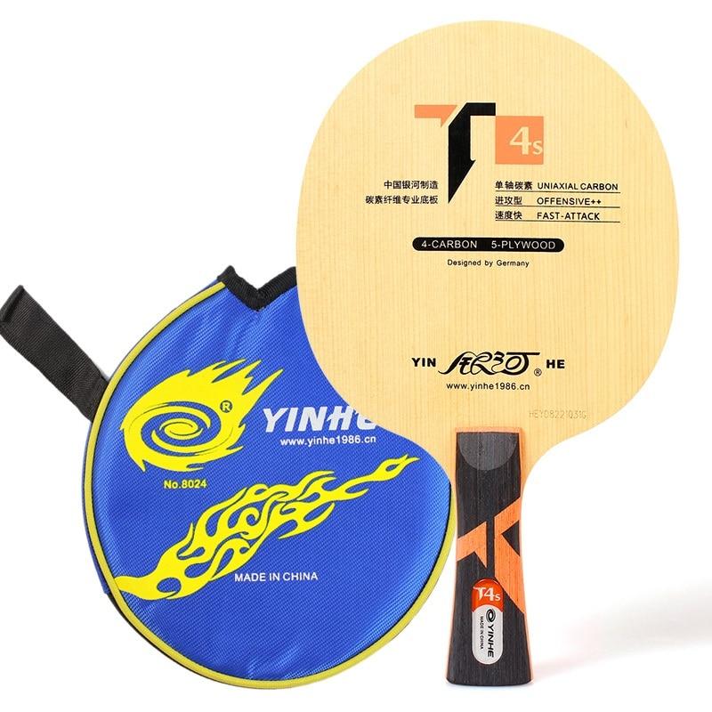 Yinhe T-4s T4S cypress carbone OFF + lame de Tennis de Table pour raquette de ping-pong