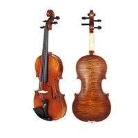 İtalya yüksek kaliteli öğrenci akustik Keman 4/4 2/4 3/4 müzik aletleri katı ahşap El Yapımı dize toptan Ücretsiz kargo
