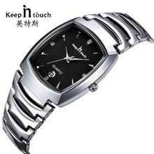BLIJF IN CONTACT Luxe Dames Quartz Horloge Vierkante Wijzerplaat Strass Armband Dames Horloges Jurk Mode Analoge relogios feminino