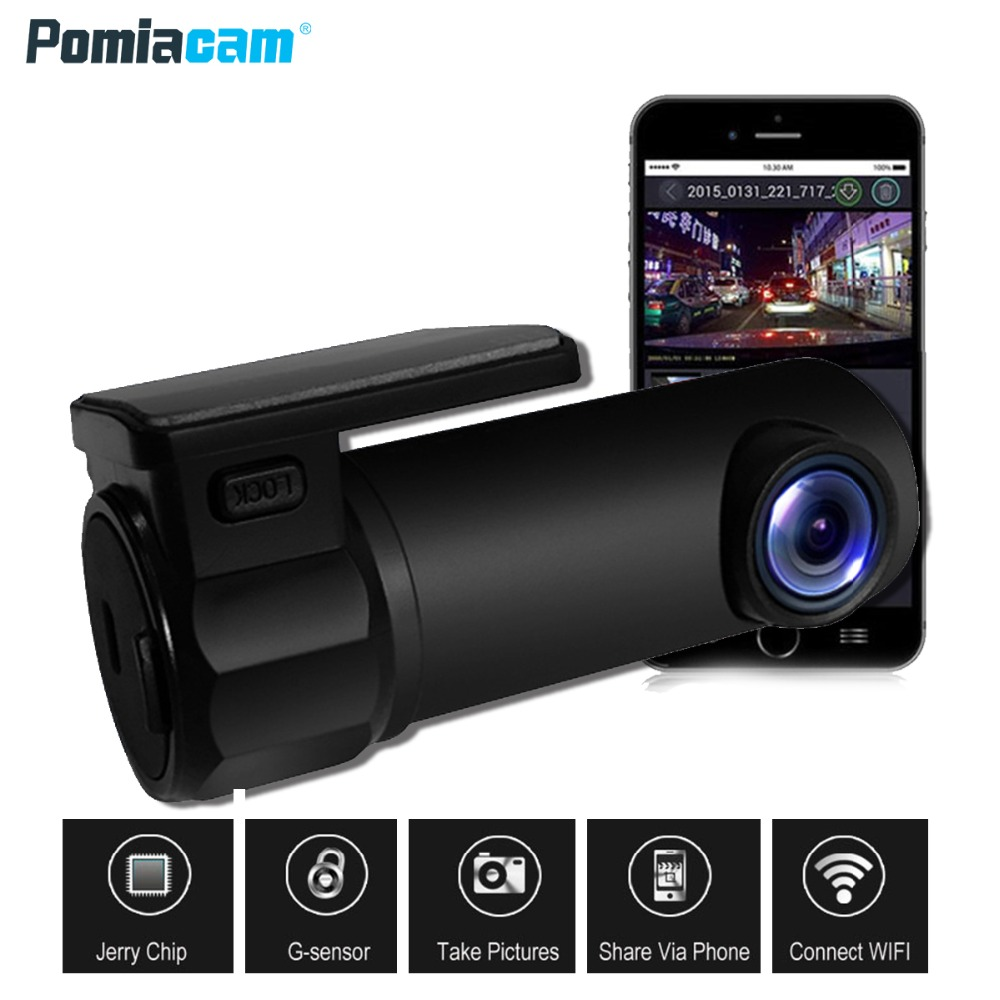 170°Wide HD 1080P Car DVR Camera Video Recorder WIFI Monitor Dash Cam G-Sensor