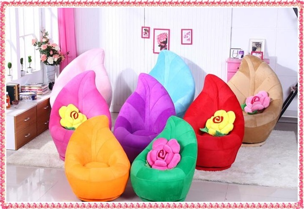 Fashion  flocking leaf sofa chairs creative rotable single sofa commercial furnitures hot selling