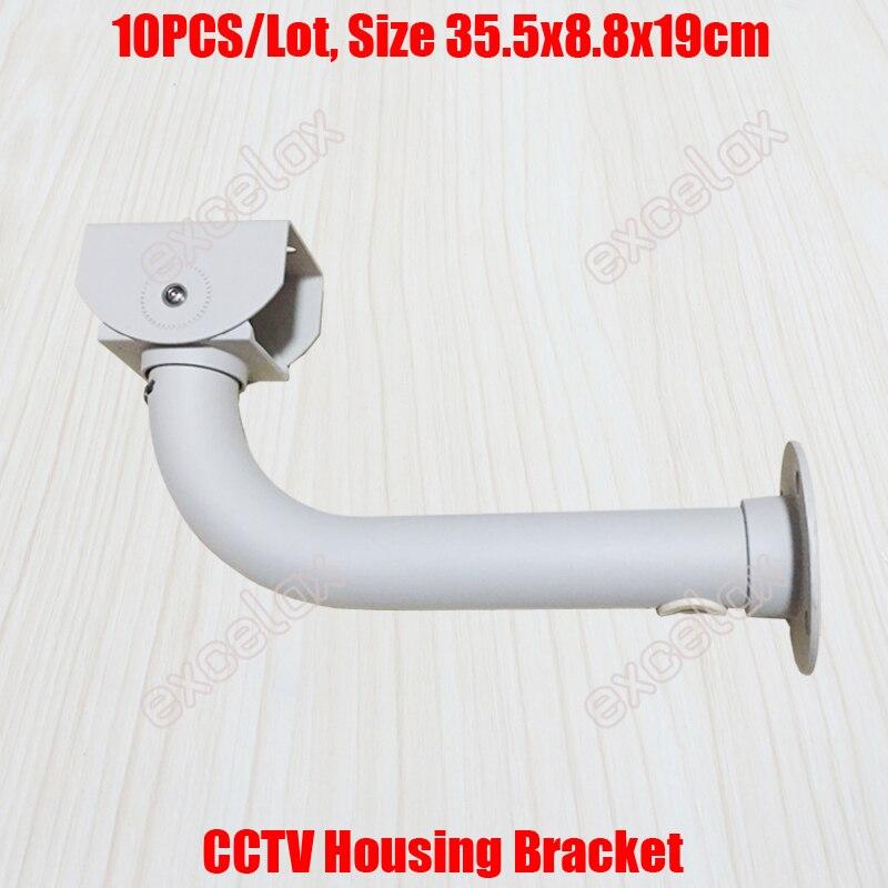 10PCS Lot L Type 36cm Length CCTV Housing Bracket Cable Protection Aluminum Alloy Wall Ceiling Mount