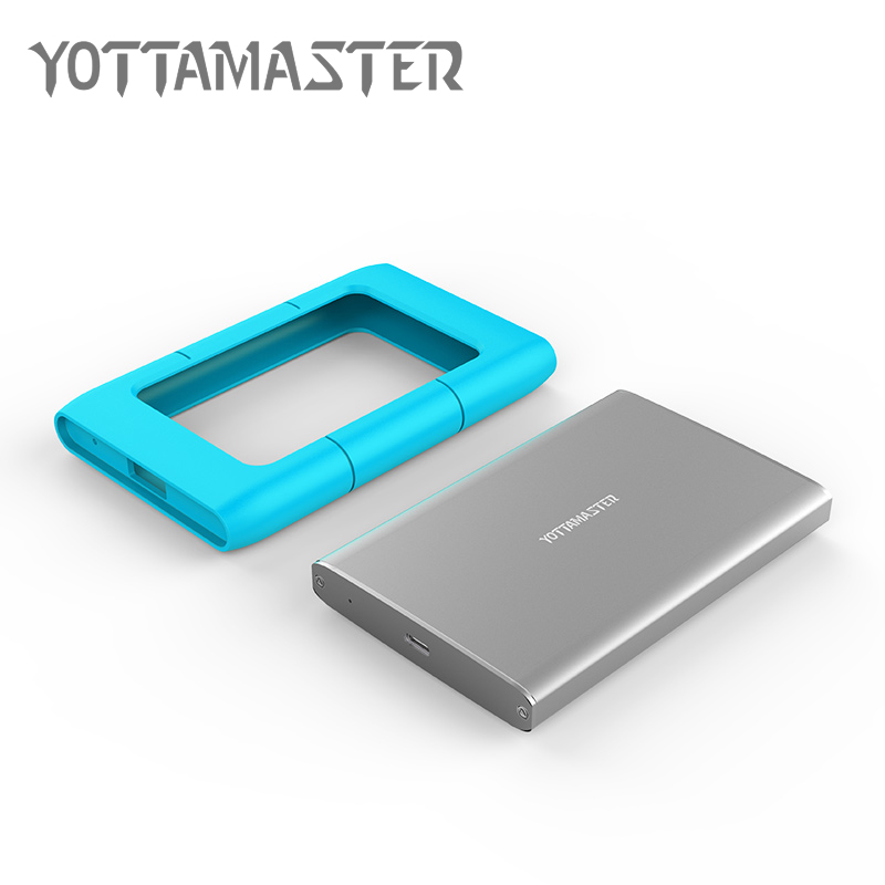 Yottamaster External Storage Devices 1TB 2.5 Type C Hard Drives HDD with Silicone Cover for Desktop Laptop