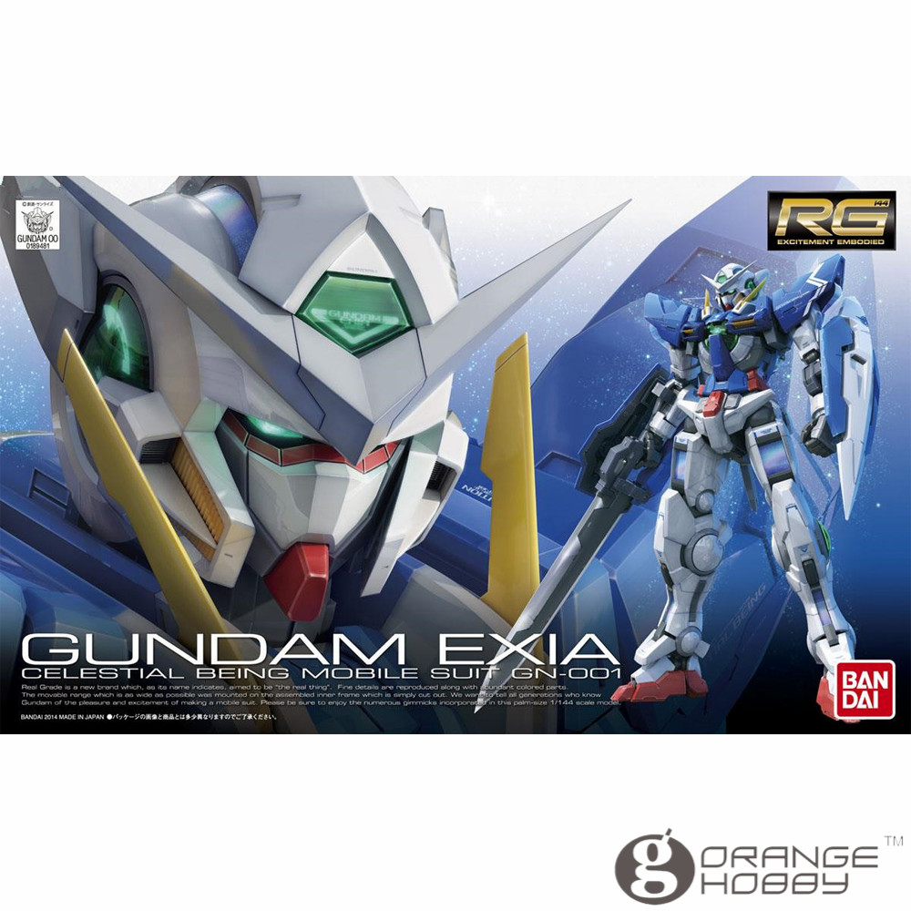OHS Bandai RG 15 1/144 GN-001 Gundam Exia Mobile Suit Assembly Model Kits ohs bandai mg 185 1 100 ppgn 001 gundam exia dark matter mobile suit assembly model kits