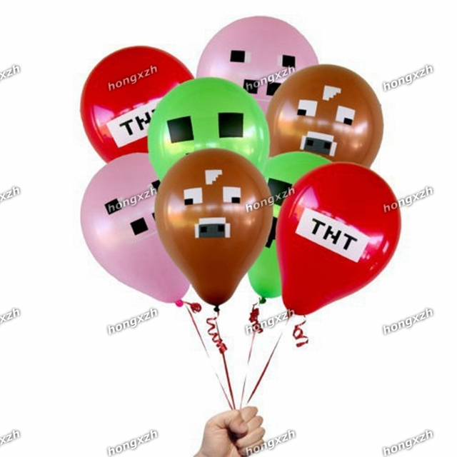 Minecraft Balloons TNT Latex Party Decorations Supplies Material For Children Kids Boys Girls Toys