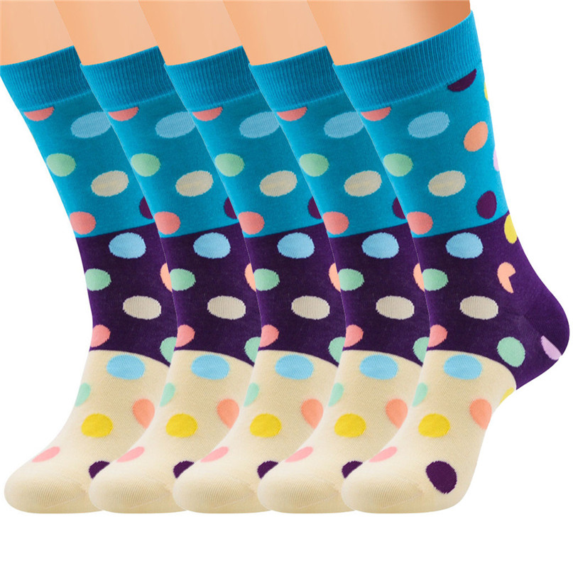 Men Accessories 5 Pairs Men`s Colorful Funny Novelty Crazy Combed Cotton Casual Socks Sport Foot Sock 30LY18 (5)