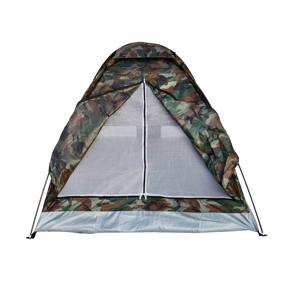 Waterproof Camping Tent 2 Person Portable Single Layer Camouflage Tents for Outdoor Hiking Beach with Carry Bag two person tent outdoor camping tent kit fiberglass pole water resistance with carry bag for hiking traveling 200x120x110cm