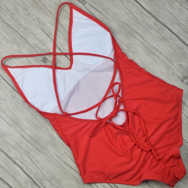 2019 Sexy One Piece Swimsuit Women Swimwear  (16)