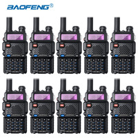 10Pcs Baofeng UV 5R Walkie Talkie Wholesale UV5R CB Radio FM 128CH VOX Ham Radio Long