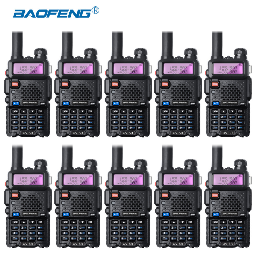 10Pcs Baofeng UV-5R Walkie Talkie Wholesale UV5R CB Radio FM 128CH VOX Ham Radio 1