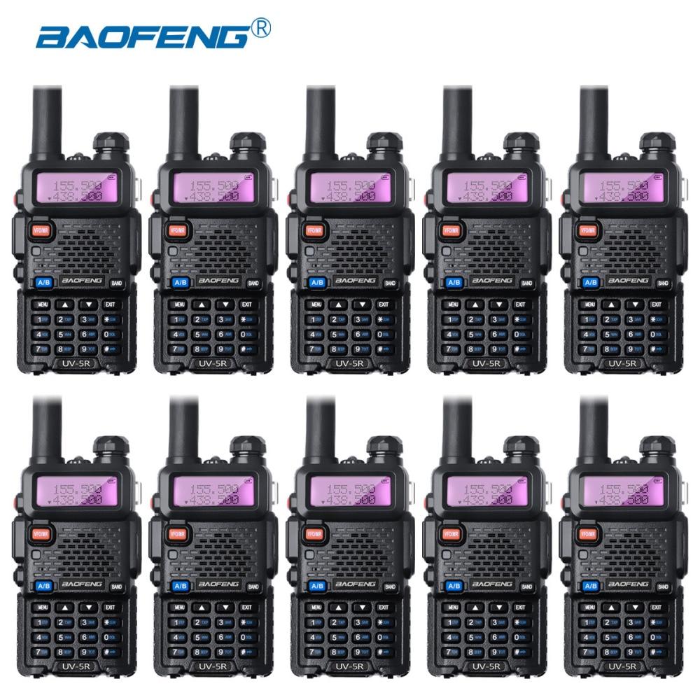 10Pcs Baofeng UV-5R Walkie Talkie Wholesale UV5R CB Radio FM 128CH VOX Ham Radio 1