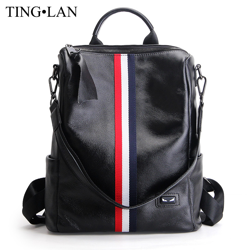 Fashion Genuine Leather Women Backpacks For Girls School Bags Ladies Leather Backpack Famous Brand Female Mochilas Preppy Style 2015 new fashion designer genuine leather brand ladies preppy style women backpack school backpack women shoulder wnb069