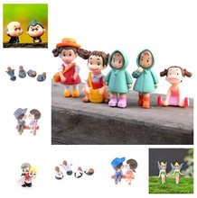 Mini Stool Couples Miniatures Decor Old Granny Cute Girl Monk Figurines Fairy Garden DIY Micro Landscape Home Decorations(China)