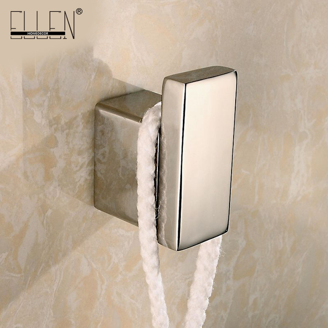 Bathroom Hooks aliexpress : buy bathroom wall hangers square bath robe hook