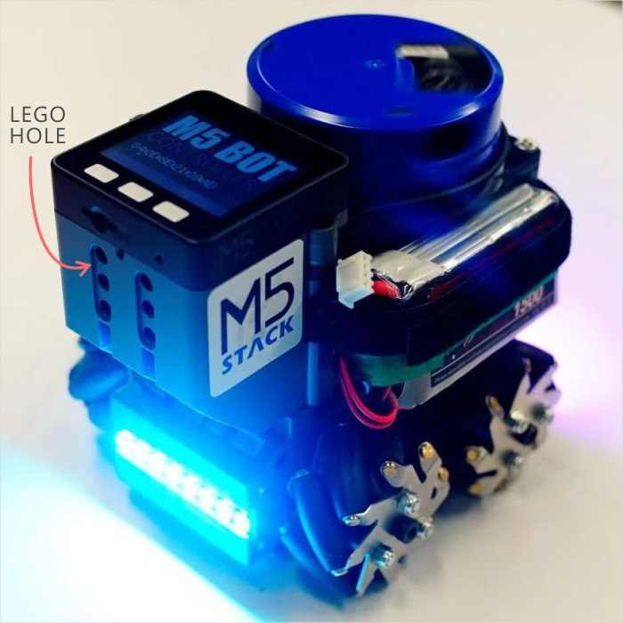 M5Stack New Lidar Bot Mini Car Lidar 8m@6Hz McNamm Wheels NeoPixel LED Bar  with ESP32 Remote Control for Arduino Micropython