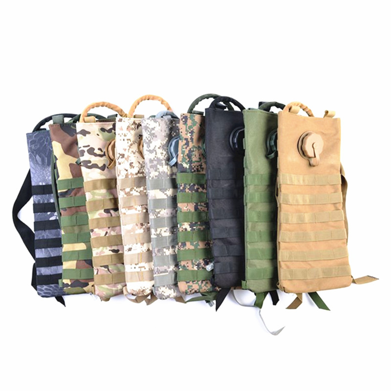 3L Outdoor Water Bag Military Molle Water Backpack Camping Hiking Hiking Cycling Camelback Tactical Hydrator Pouch Water Bag