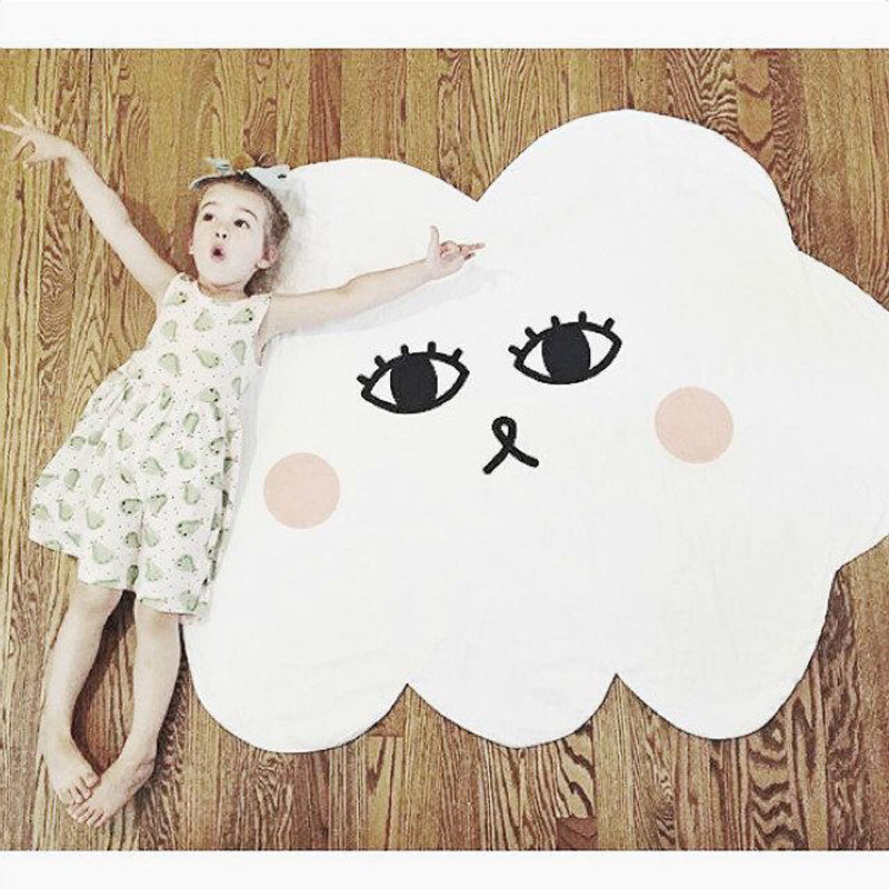 Cartoon Lächeln Wolke Babydecke Baumwolle Swaddle Me Crawling Pad - Haustextilien - Foto 4