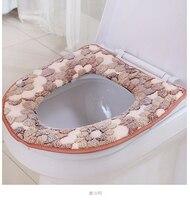1Pcs 43x35cm Thickening Cushions Paste Type Toilet Mat Waterproof Zipper General Toilet Seat Set Plush Sit