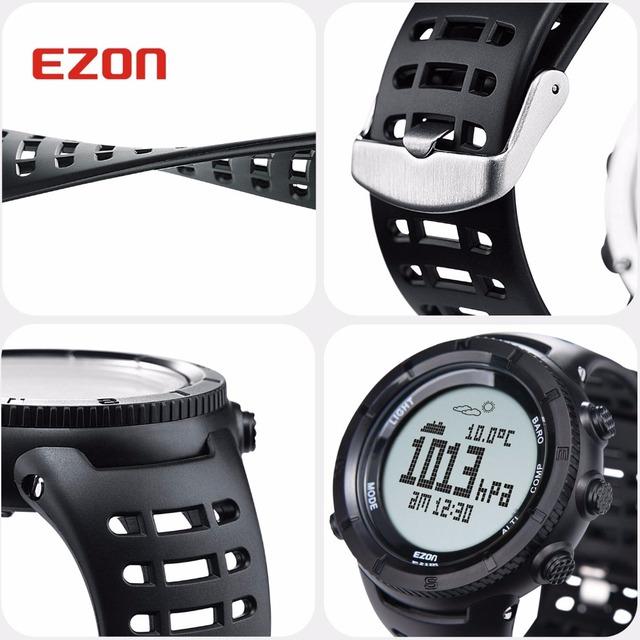 New Sports Watch Men Casual Electronic Altimeter Barometer Compass Wristwatches Alarm 50M Waterproof Digital Stopwatch