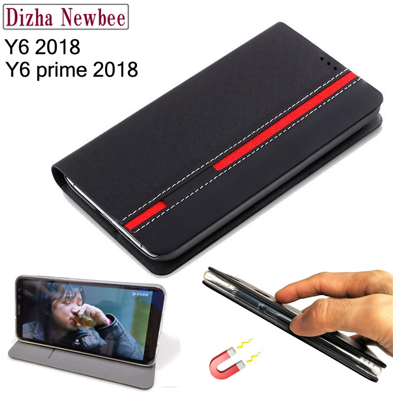 case huawei y6 prime 2018 cover,Business Leather Flip shell For huawei y6 2018 case Cover Cases With Card Holder