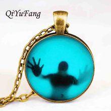 US horror movie The Walking Dead Pendant charm Steampunk Necklace doctor who 1pcs/lot mens vintage chain vintage 2017 flash 2016