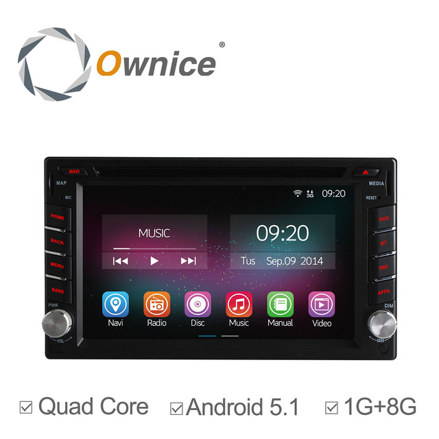 Ownice C200 Quad Core Android 5.1 Car DVD GPS Navigation 2Din Car Stereo Radio Universal Interchangeable Player Free Shipping