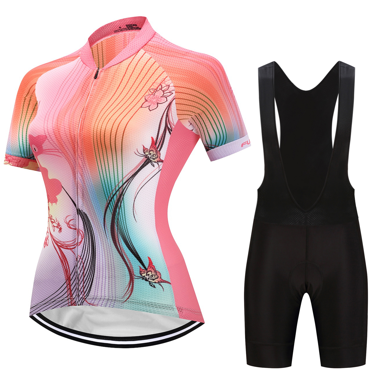 Fualrny 2018 Women Summer Breathable Pro Cycling Jerseys Set Quick Dry Bicycle Clothes Ropa Maillot Ciclismo MTB Bike Clothing