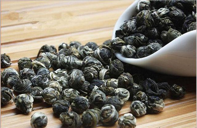 250g  High quality Organic Premium chinese jasmine green tea Jasmine Dragon Pearl Fragrance GREEN TEA jasmine pearl tea