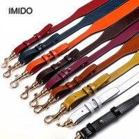 IMIDO Women Replacement Straps Genuine Leather Shoulder Belt Bag Handbags Accessories Parts For Bags Ornament Black