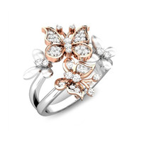 Rose Gold Butterfly Rings for Women Gold Filled Rings For Valentine's Day RJL171202010-6 2