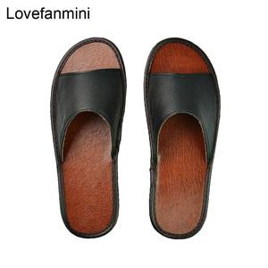 Image 5 - Pantufa de couro de vaca antiderrapante, par de sapatos unissex casual e macios de pvc para casa, moda de primavera verão 515,