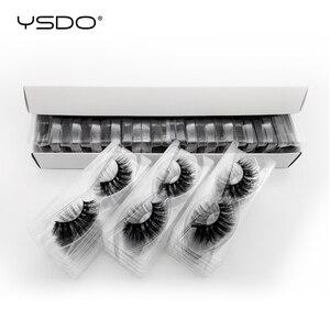 Image 1 - 30 pairs/pack 3D Mink Lashes with tray no box full strip lashes wholesale natural long false eyelashes makeup cruelty free lash