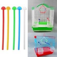 5PCS Bird Cage Perch Stand Holder Plastic Bird Finch Canary Budgie Cage Platform 17cm Plastic Bird Perch Random Color