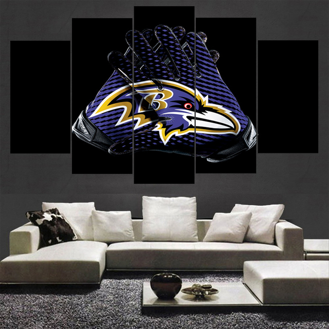 New Arrivals Baltimore Ravens Boys Room Canvas Painting Calligraphy Modern Home Prints Living Decor Wall Art Paintings
