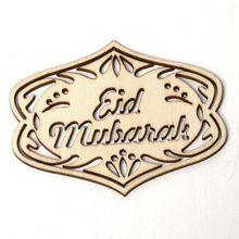 1 Set DIY Eid Mubarak Muslim Home Decoration Ramadan Decor Pendant Wooden Hollow Ornament Crafts Activities Gifts With Ropes Isl