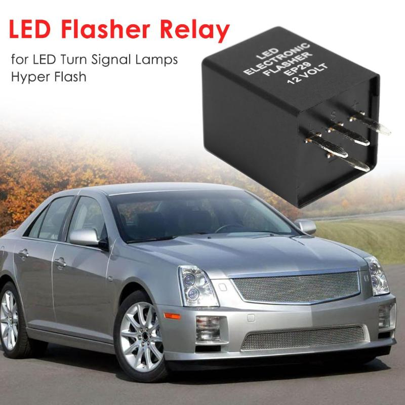4-Pin EP29 FL29 LED Flasher Relay Fix For LED Turn Signal Lamps Hyper Flash