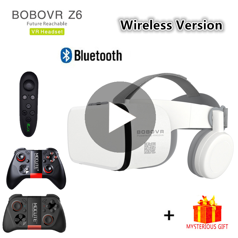 Bobo Bobovr Z6 Casque Capacete 3D VR Óculos De Realidade Virtual de Fone de ouvido Para iPhone Android Smartphone Ios Telefone Inteligente Óculos Lunette