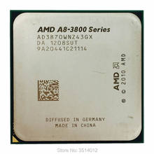 Processador amd A8-Series A8-3870K a8 3870 k 3.0 ghz, cpu quad-core, soquete fm1