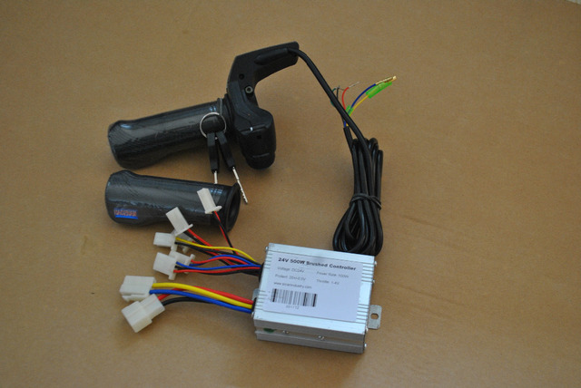 24 V 350 W kit controlador de velocidad y acelerador de giro f scooter ebike motor eléctrico led acelerador
