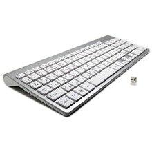Ультра-тонкая русская клавиатура с 101 клавишами 2,4 ГГц Беспроводная Бесшумная Клавиатура Teclado Gamer для Mac Win XP 7 10 Android TV Box