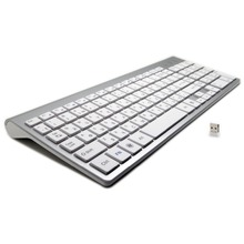 101 Keys Ultra Thin Russian Keyboard 2 4GHz Wireless Mute Keyboard Teclado Gamer for Mac Win