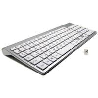 101 Keys Ultra Thin Russian Keyboard 2.4GHz Wireless Mute Keyboard Teclado Gamer for Mac Win XP 7 10 Android TV Box