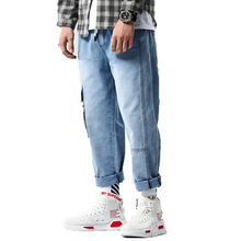 2019 Fashion Baggy Style Mens Jeans Hip Hop Loose Big Pocket Boys Skateboard Rap Punk Denim Pants men Ankle-Length Harem pants