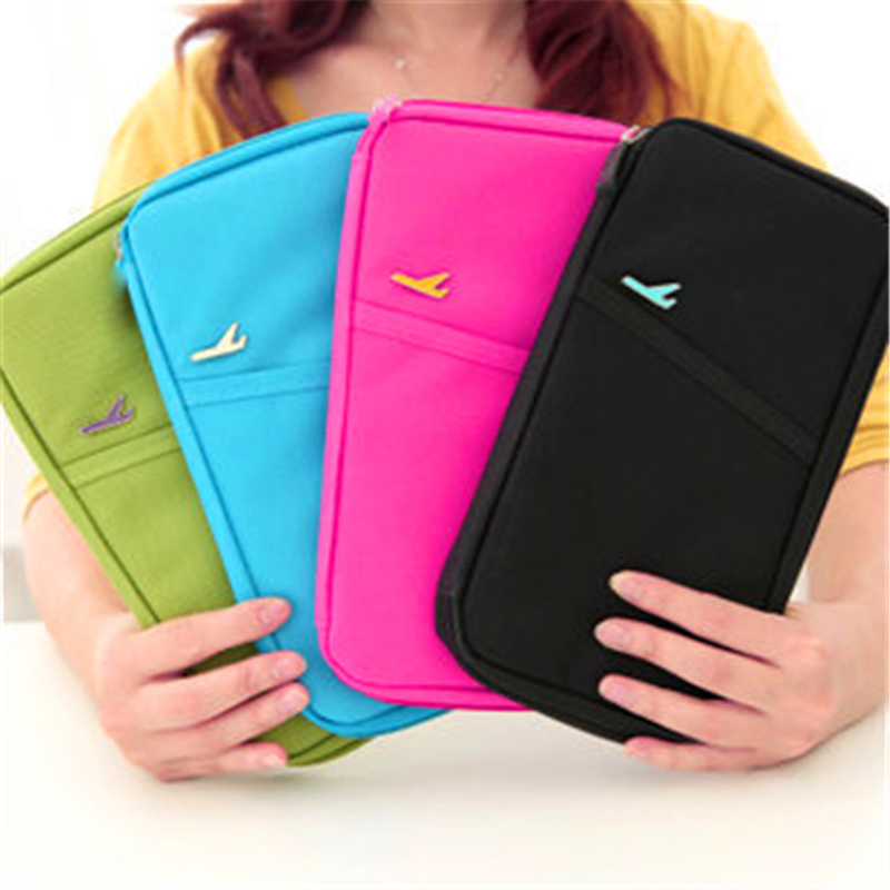 Travel Passport Cover Wallet Travel Multi-function Credit Card Package Trip ID Holder Storage Organize Clutch Money Bag H-125