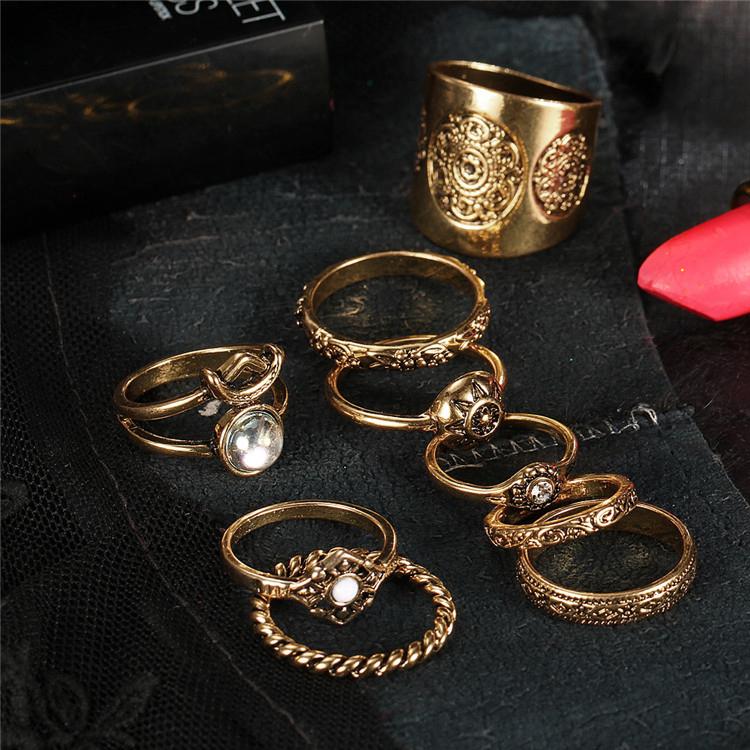 HTB1I8dtQVXXXXbsXVXXq6xXFXXXV 9-Pieces Antique Style Turkish Knuckle Ring Set For Women - 2 Colors