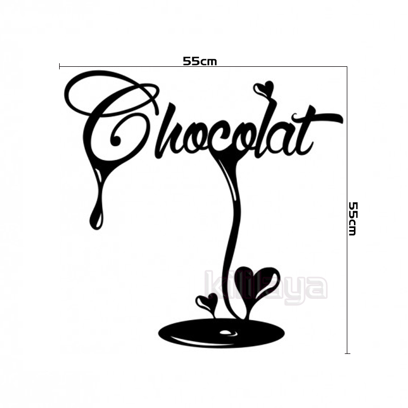 Great stickers french la cuisine chocolat fondant vinyl - Stickers protection cuisine ...