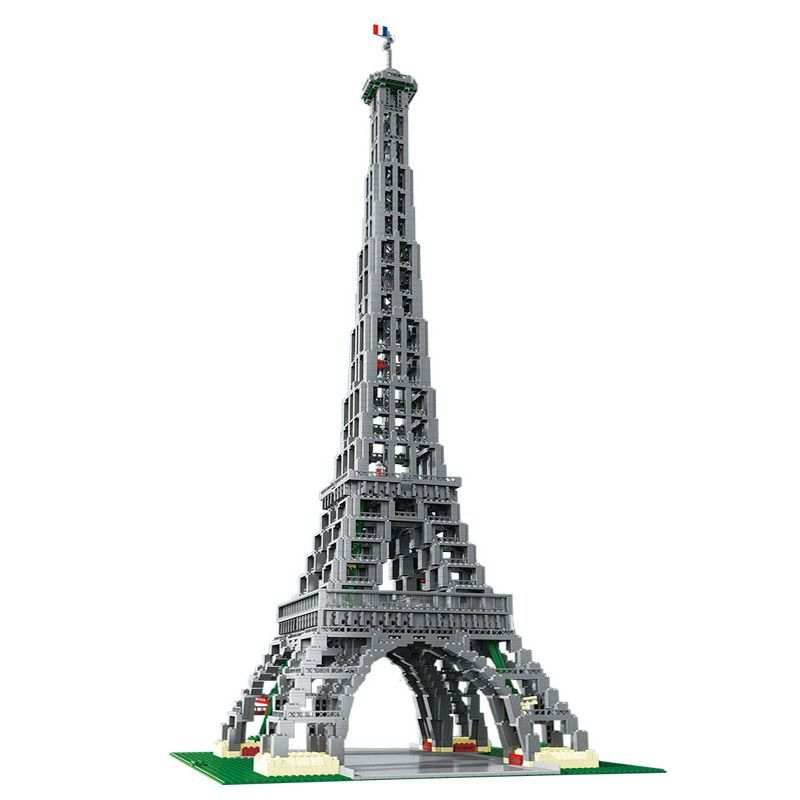 Lepin 17002 City Street 3478pcs Paris Eiffel Tower Model Compatible legoed 10181 Building Blocks Bricks Toys for Children Gifts lepin 22001 pirate ship imperial warships model building block briks toys gift 1717pcs compatible legoed 10210