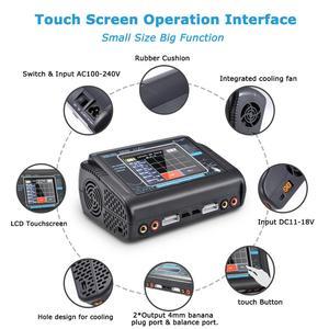 Image 3 - HTRC T240 DUO RC פורק AC 150W /DC 240W מגע מסך כפול ערוץ 10A איזון מטען עבור liPo LiHV חיים Lilon NiCd NiMh Pb