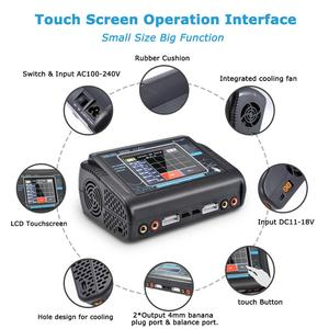 Image 3 - HTRC T240 DUO RC 방전기 LiPo LiHV LiFe Lilon NiCd NiMh Pb 용 AC 150W /DC 240W 터치 스크린 듀얼 채널 10A 밸런스 충전기